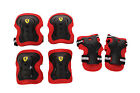 Ferrari Cycling Skating Sports Knee Elbow, Wrist Protective Pad 6Pc Safety Guard