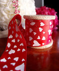"1.5""x1YD Satin Ribbon W/ Hearts Printed Satin Ribbon Valentine's Day Gift Decor"