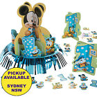 MICKEY OR MINNIE MOUSE 1ST BIRTHDAY PARTY SUPPLIES TABLE DECORATING CENTREPIECE