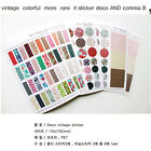 6 Sheets Cartoon Lovely Scrapbooking Diary Decor Phone Sticker Adhesive New