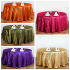 "6 pcs 120"" Pintuck Fancy Round Tablecloths Linens for Parties Wedding Catering"