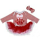 Baby Daddy is My Valentine I'm His Princess Heart Red Chevron Pink Long Sleeves