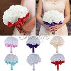Wedding Bouquet Bridal Bridesmaid Aartificial Flower Roses Posy Handmade Decor