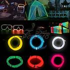 1M/2M/3M/5M EL Wire Rope Flexible Neon LED Light Glow Battery Power Party Decor