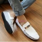 Mens Leisure Shoes Driving Boat Loafer moccasin-gommino Stylish Flat Grid 2016