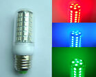 E27 LED bulb 48-5050 SMD Lamp White/Warm/Red/Green/Blue 110V/220V with cove D
