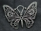 2/8/40pcs Antique Silver Beautiful Butterfly Jewelry Charms Pendant 48x37mm Hot