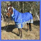 LOVE MY HORSE 1200D 180g 5'3 - 6'6 Reflecting Turnout Cotton Lined Combo Blue