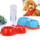 Puppy Automatic Water Dispenser Food Dish Bowl Supply Bottle Feeder Pet Dog Cat