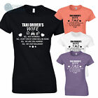 Taxi Driver's Wife Ladies Funny T-Shirt Humour