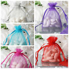 """3x4"""" Sheer ORGANZA BAGS with Pull String Drawstring Pouches Wedding Party Favors"""