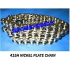 415H KMC Chrome Chain, 98 Links 415H X 98L Extra Wide Chain, BMX Bike, Freestyle