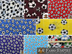 """Polar Fleece Printed Fabric SOCCER 60"""" Wide Sold By the Yard"""