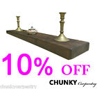 Floating Shelf Chunky 45mm Rustic Reclaimed Shelves Mantel Wooden Sale