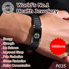 Noproblem P035 Armband energy mens magnetic Bracelet Bio ions Stainless Steel