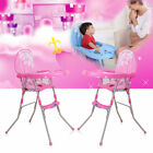 Baby High Chair Foldable Highchair Feeding Seat Adjustable Height Safety Harness