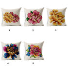 """Chinese style Peony Pattern 18""""x45cm Decor Cotton Linen Cushion cover Pillowcase"""
