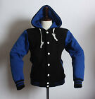 New Men's Hoodie Varsity Letterman College Cotton Quality Baseball Jacket XS~XL