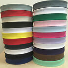 50 Meter  FULL REEL COTTON BIAS BINDING TAPE 25MM (1 INCH) - VARIOUS COLOURS