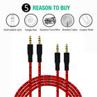 3.5mm Braided Male to Male Stereo Audio AUX Cable Cord for PC iPod CAR iPhone