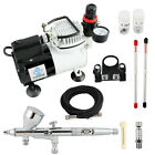 OPHIR Professional 3 Tips Airbrush Kit with High Performance Air Compressor Set