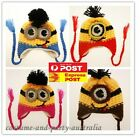 MINIONS DESPICABLEME KNITTED CROCHET BEANIE KID GIRL BOY BABY CROCHET HAT 1-6y