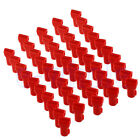 100pcs Red Plastic Retail Security Stop Lock Stem Peg Display Hook Anti-Theft WS