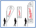 Mercedes certified used car flag ,great for dealerships - Flags Banners UK 1