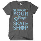 Support Your Chicago Skate Shop Women's T-shirt - Skater Girl Skating - S to 2XL