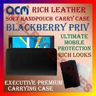 ACM-RICH LEATHER SOFT CASE for BLACKBERRY PRIV MOBILE HANDPOUCH COVER HOLDER NEW