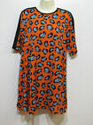 Ladies Louche Hart Print Tunic Top Dress Orange UK 8 & UK 14 NEW HB10
