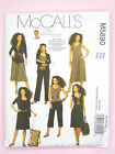 McCall's 5890 Sewing Pattern MIsses' Jacket Top Dress & Trousers - Knits Only