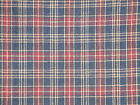 Navy Plaid Material | Primitive Cotton Material | Rag Quilt Materiall