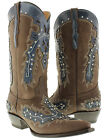 Women's Cowboy Boots Ladies Dance Leather Western Wear Riding Biker Rodeo New