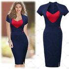 Women's Sexy Wiggle Pencil Casual Cocktail Office Party Split Bodycon Dresses