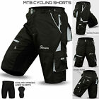 MTB Cycling Short Padded Off Road Cycle Bicycle CoolMax Liner Shorts S to XXL