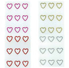 Heart Stickers Embellishments Wedding Craft Personalised Stationery Decorative