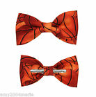 New Basketball Clip On Cotton Bow Tie Clip-On Novelty Bowtie