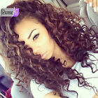 "New 12""-24"" 100% Indian Remy Human Hair Lace Front/Full Wig Deep Wave Curly Wigs"