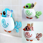 1pc New Design Lovely Popular Charming Suction Tooth Brush Holder Bird Pattern