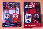 Star Wars The Force Awakens/ Marvel Avenger Official Walkie Talkie Toy Pack of 2