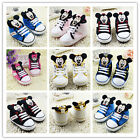 Toddler Baby Mickey /Minnie crib shoes sneakers size 0-6 6-12 12-18 months