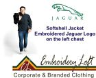 JAGUAR LOGO EMBROIDERED SOFTSHELL JACKET.. 2 COLOURS IN 8 SIZES