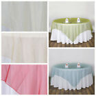 """15 pc 90x90"""" Sheer ORGANZA Overlays Wedding Party Table Decorations"""