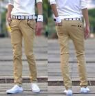 Mens Slim Fit Casual Pants cotton  Skinny Stretch Pencil Jeans Trousers colors