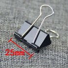 High Quality Black Metal Binder Clips Office School Supplies 40 pcs Paper Clip