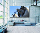 B17 Boeing Aircraft Plane Airplane Propeller Bomber Canvas Art Poster Print