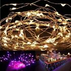 4M 40 LEDS Silver Copper Wire LED Starry Lights String Fairy Battery Powered