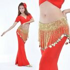 SH17# Belly Dance Beads Coins Bells Hip Scarf / Belt 8 Styles/Colors
