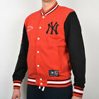 Majestic MLB New York Yankees Senell Fleece Letterman jacket NEW A6NYY5504RED05X